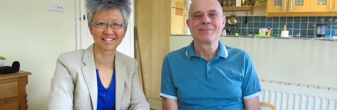 Yang-May Ooi (L) with Stevie Henden (R) - South London Voices podcast