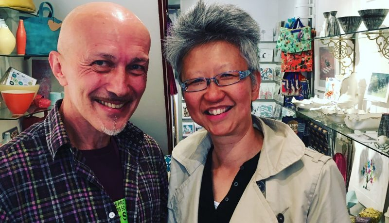 Duart Bel Silva (L) with Yang-May Ooi (R) - South London Voices podcast