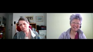 Ann Lewis (L) and Yang-May Ooi (R) talking about nature photography on the ReWilding My Life podcast