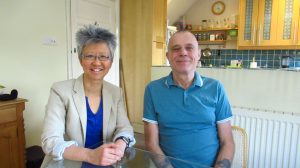Yang-May Ooi (L) with Stevie Henden (R) - talking about family, flying bombs and fantasy in the South London Voices podcast