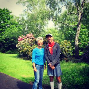 Yang-May Ooi (L) and Kristian Morgan (R) - South London Voices podcast on running