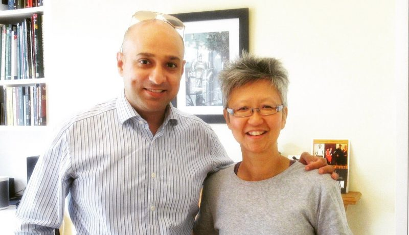 Navjot Singh (L) and Yang-May Ooi (R) on the South London Voices podcast
