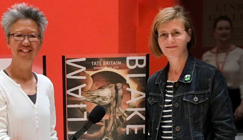 Yang-May Ooi (L) Anna Sayburn Lane (R) - podcast review of William Blake at Tate Britain for Creative Conversations