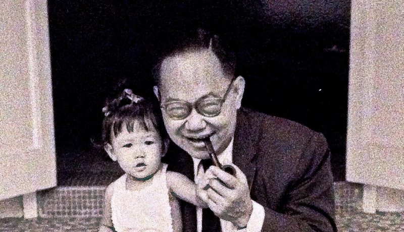 Lim Swee Aun with author and podcaster Yang-May Ooi (toddler)