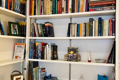 """Feeling homey now my books and stuff are up in my new house"" - Oxford Moments, a multimedia blog by Writer Yang-May Ooi"