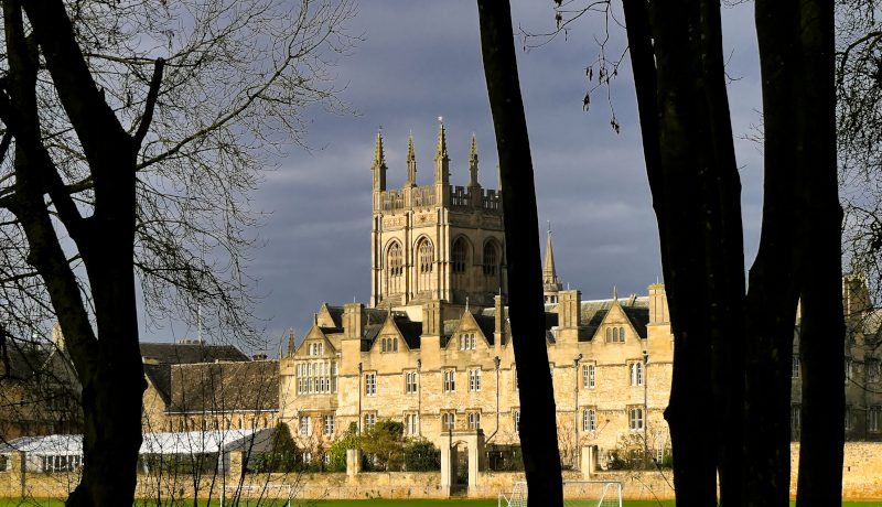 "Merton College from Christchurch Meadow - to illustrate ""The Enchantment of Christchurch Meadow"" by writer Yang-May Ooi on her blog ""Oxford Moments"""